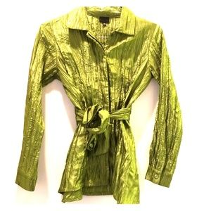 Belted Crinkle blouse